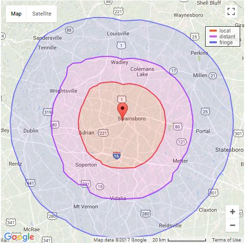 WXRS 1005 Coverage Map